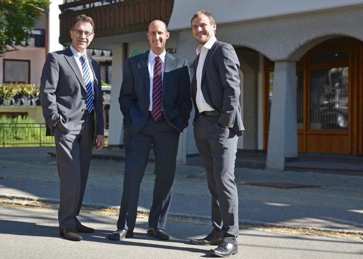 v.l.n.r. Hans Wechs, Michael Hiller, Florian Daumann